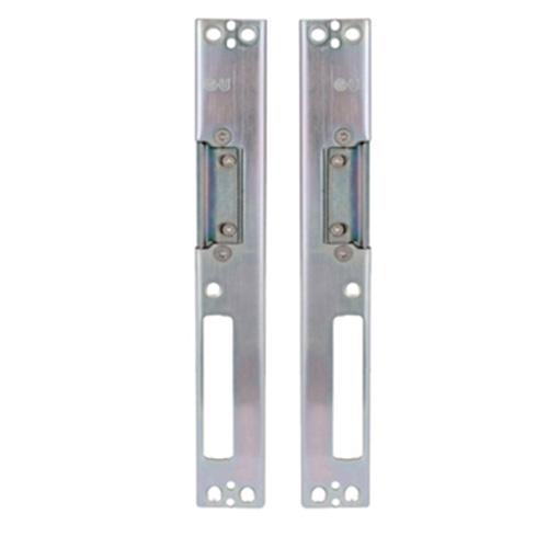 door centre receiver, door striker plate, plate that goes on door frame to close door, plate that screws to side of door frame to keep the door closed, keeps receiver strike plates