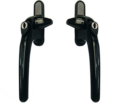 Best place to buy replacement Black cockspur window Handle in black online the handle for aluminium windows, the handle with the nose or spur on the side, black thick handle with stick out piece at the side