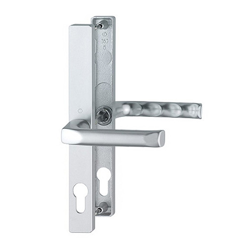 Silver uPVC Hoppe London Door Handle Set Pair - 48PZ The Hoppe London handle is a sleek and modern handle which will give you years of wear and tear and still look great. It is especially made for the Fuhr 47-48mm door lock.