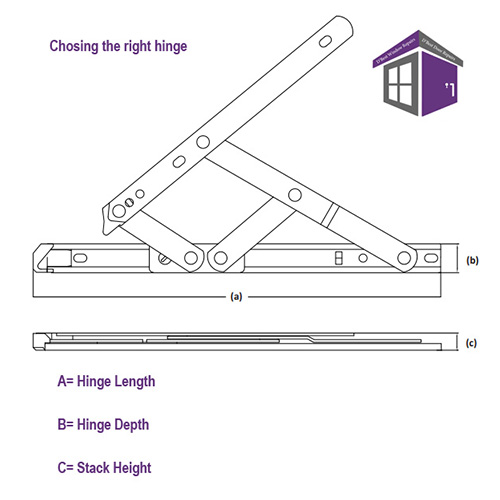 How to measure window hinges, Nico Aluminium UPVC Friction Hinge Window Stay For Holding the Window Open