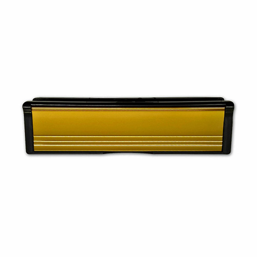 Gold A4 aperture to BS2911; To suit doors with 40mm – 80mm thickness; Nylon brush seal internally