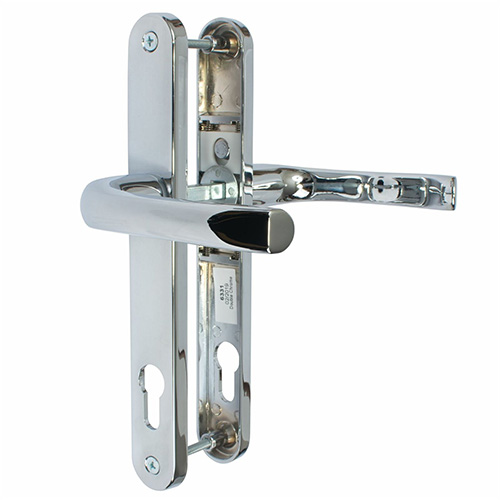 Chrome PVC Mila Pro Linea Door Handle Set Pair - The Hoppe London handle is a sleek and modern handle which will give you years of wear and tear and still look great.