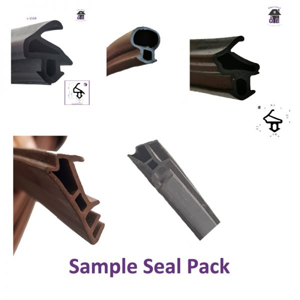 Ewplacement Seal Sample Pack for Windows and Doors. This sample pack contains 6 different types of Seals Gaskets Rubbers that we stock