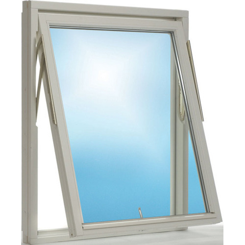Side hung windows have visible hinges on one side, and a handle on the other. the top hung window handle is located at the bottom of the sash, and it opens outwards and upwards. Normally, up to 90 degree angle to the frame