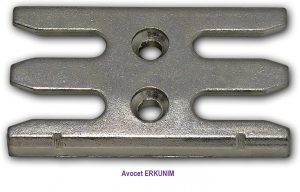 Avocet ERKUNIM. These window strike plates receivers keeps are commonly used on UPVC window profiles, each keep has the part number under the photo, however these plates are designed to accept a mushroom cam, the type fitted to many UPVC window espag locks