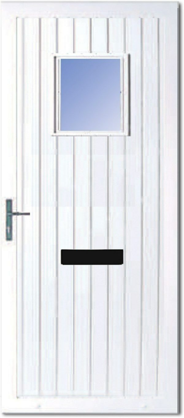 The Roe PVC Door Insert Panel is a contemporary design with t&G design with square edge to the top. It comes in an array of colours.
