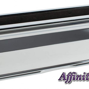 """Chrome Avocet Affinity 12"""" 309mm Letter Box Plate. The Affinity letterbox will take full A4 size mail with an external flap that opens to 180°. Each flap is sprung and comes with a finger slot for easy opening. It has both an external weather seal and an internal draft seal."""