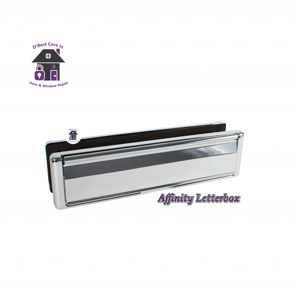 The Avocet Affinity letterbox with contoured edges to complement the look of your door and home Munster Joinery letterbox