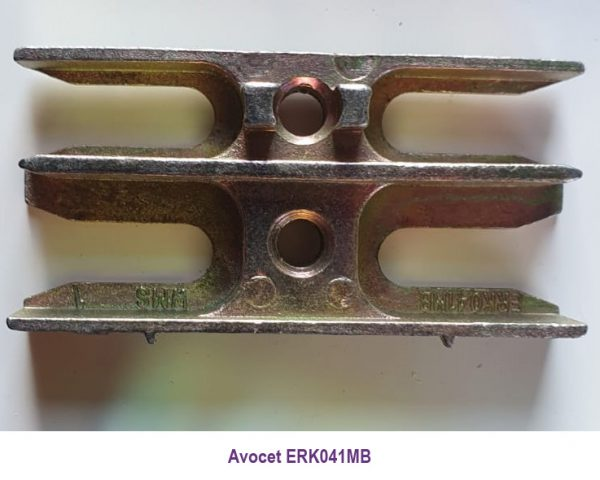 Avocet ERK041MB. These Mushroom Espag keeps are commonly used on UPVC window profiles, each keep has the part number under the photo, however these plates are designed to accept a mushroom cam, the type fitted to many UPVC window espag locks We also sell the universal strike plate (ERKUNIM) which is marked on the photo, and is a universal window keep so will fit just about all uPVC windows with an espag and mushroom cams. The back or bottom of this keep is flat so it can be made to fit most window profiles. Usually found on uPVC double glazed windows, this keep accepts a mushroom cam which is a common window lock used in PVC windows.