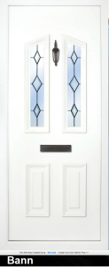 The Bann Solid has 4 panels and the top two have a slight triangulated effect. The top two-pane have a choice of solid, clear glass or glass design, and you can also choose all 4 panels in glass design, so this panel really is a bespoke design,