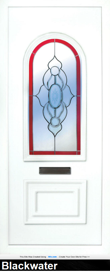 the Blackwater is a 2 panels door, this design is more a 2/3 and 1/3 panel design, the bottom panel is square and the top is beautifully arched. This panel comes in a choice of colours and 6 glass designs so there is something for every design taste.