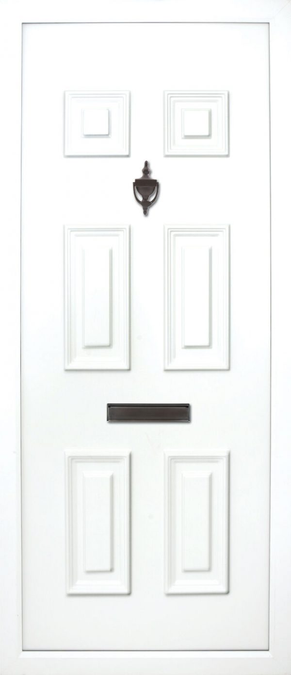 The Liffey Solid 6 panel PVC Door Insert Panel. This solid door panel has a 6 solid panels. it is traditional and suitable for most homes but looks best on older cottages or bungalows etc.