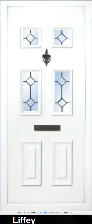The Liffey Diamond Lead has 6 Panels all with the diamond lead effect. the glass can be clear or obscure.