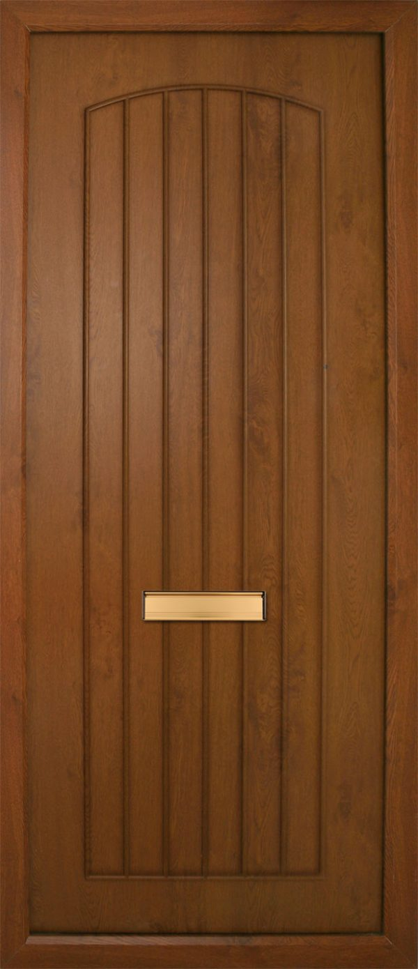 The Oak Nenagh Solid PVC Door Insert Panel is a contemporary design with t&G design that has is slightly arched to the top. It comes in an array of colours and 4 glass design options.