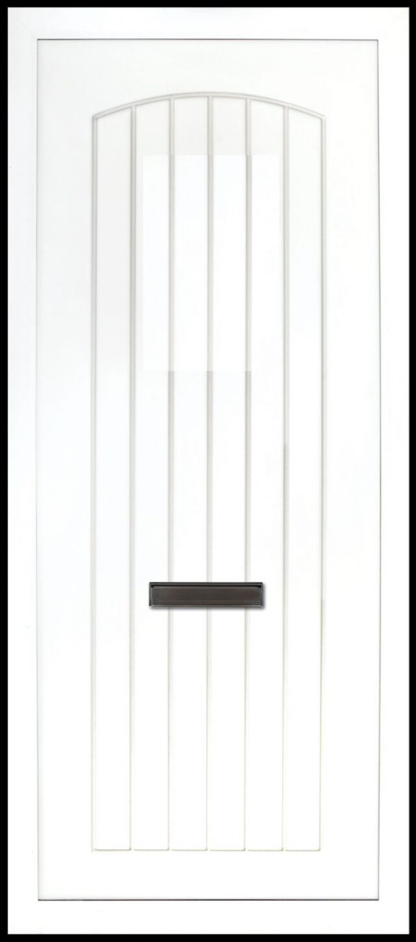 The Nenagh Solid PVC Door Insert Panel is a contemporary design with t&G design that has is slightly arched to the top. It comes in an array of colours and 4 glass design options.