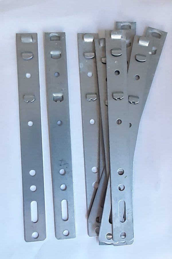 uPVC 70mm Window and Door Sash Frame fixing Clips Brackets Lugs Cleats 202mm long