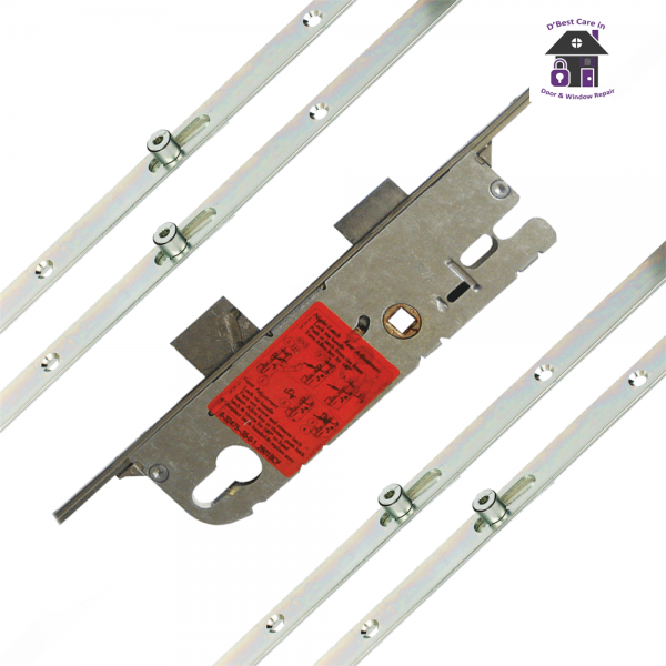 GU Secury Europa Lever Operated Latch & Deadbolt Single Spindle - 4 Roller cam 35/92 - 6-32258-20-0-1, the rod on the side of the door that slides up and down when you lift the handle, door locking rod, rod on side of door to lock, bar in the door frame to lock the door with the handle, door mutlipoint locking mechanism. door espag, locking mechanism, doorl ock, the metal strip that moved up and down in the door by the handle