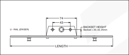 diagram Offset Upvc Espag Lock Rod 25mm Backset Length 250mm 400mm 600mm 800mm 1000mmCams 8mm, the rod on the side that slides up and down when you turn the handle, window locking rod, rod on side of window to lock, bar in the window frame to lock the window with the handle