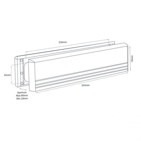 Postmaster Letterbox 303 x 70mm suitable for all pvc and wooden timber doors door repairs letterbox replacement