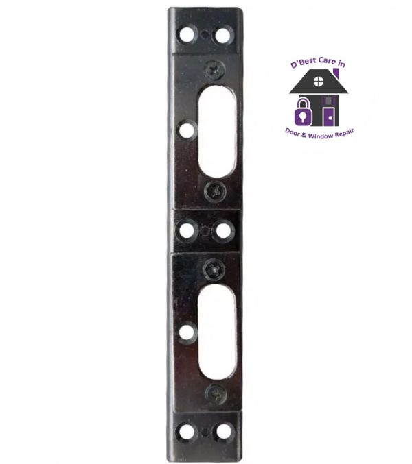where can i buy french door receivers, how can i get my french door to close, french door repairs, Lockmaster Centre Latch Dead Bolt Keep Fits Left or Right Hand