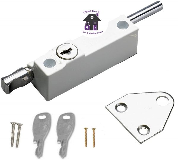 This Multi-Purpose Locking Door bolt is ideal for use on both wooden and metal, hinged or sliding doors, providing increased security.