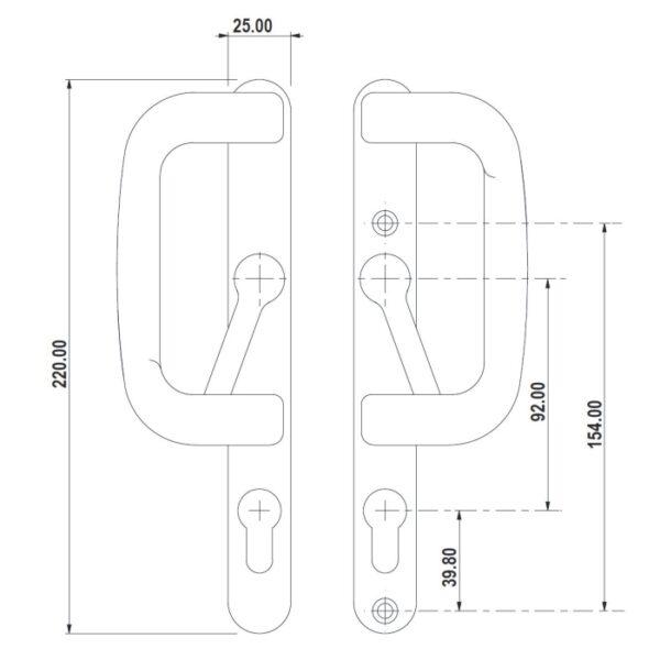 specifications, diagram sparta trojan 92pz sliding patio door handle