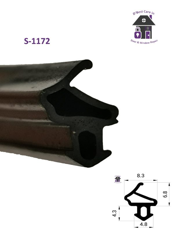 buy window door seals online, looking for the rubber goes around the window frame to stop the draughts, EDPM seal s-1172 buy window and door draft seals online in Ireland, rubber gasket for draughts, stop breezes and draughts coming in your windows, where can i find seals to stop cold air in my windows doors