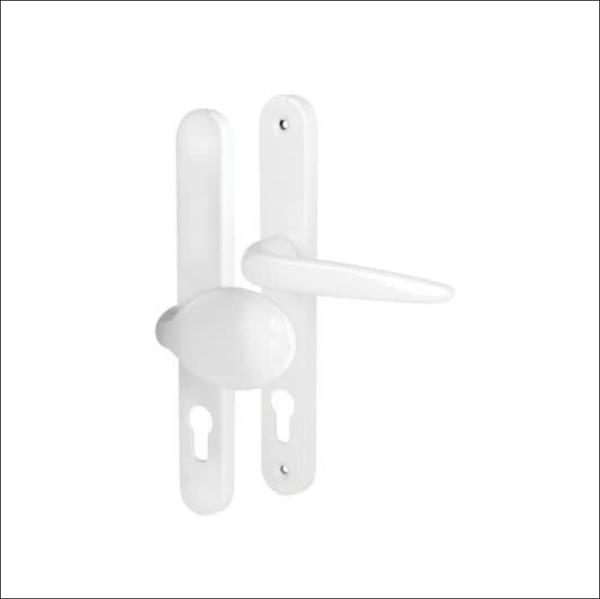 buy white Trojan Sparta 240mm Sprung Door Handles online