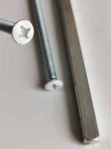buy Door Handle 4.8mm Bolt Replacement Upvc Handle Screws White Head online in ireland
