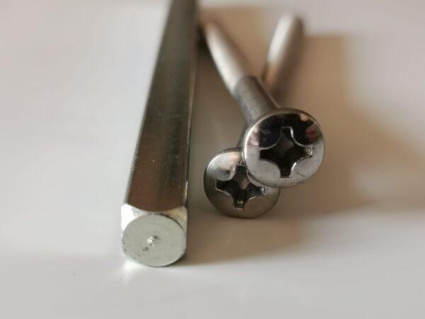 buy Chrome door handle screws, screws for door handle spindle for door handle, chrome colour screws, 90mm door handle screws online