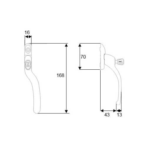 best place to buy Fab & Fix Connoisseur Offset Locking Espag UPVC Window Handle diagram