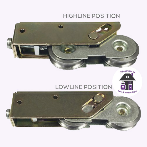 replacement fortandem sliding patio doors, Schlegel High Line and Low Line Double Wheel Patio Rollers.